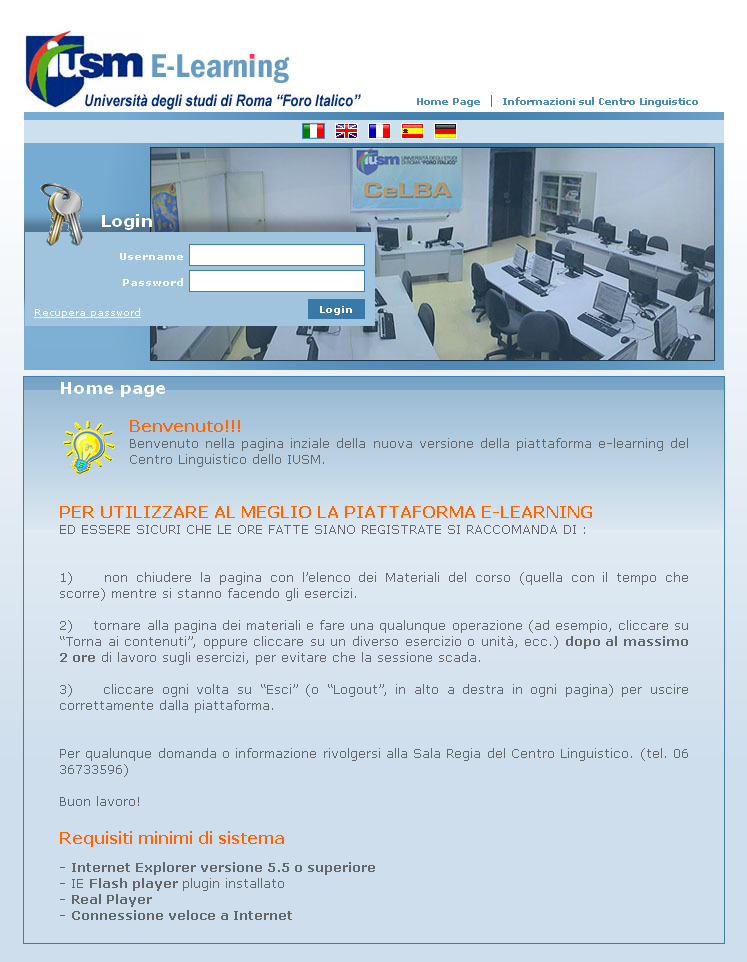 Piattaforma E-learning IUSM